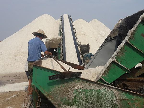 原盐生产图